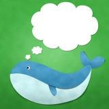Baleia com mensagem Fotos de Stock