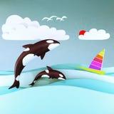 Baleia da orca Fotografia de Stock Royalty Free