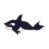 baleia de assassino cômica dos desenhos animados Imagens de Stock