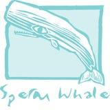 Baleia de esperma no azul Imagem de Stock Royalty Free