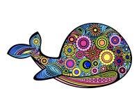 Baleia decorativa brilhante Imagem de Stock
