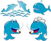 Baleia do golfinho ilustração royalty free