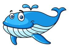 Baleia dos desenhos animados com um bico de água Fotografia de Stock Royalty Free