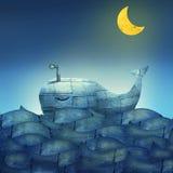 Baleia no azul ilustração do vetor