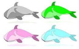 Baleias da cor Ilustração Royalty Free