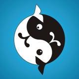 Baleias de Yin-Yang ilustração royalty free