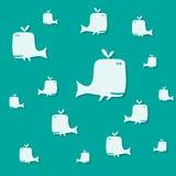 Baleias no oceano Foto de Stock