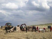 Baleine échouée à Scheveningen image stock