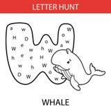 Baleine animale de chasse à lettre Photos stock