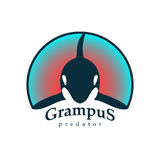Baleine d'épaulard de logo Images stock