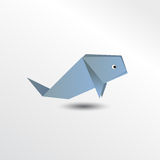 Baleine d'origami Illustration de Vecteur