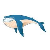 Baleine de bande dessinée Image stock