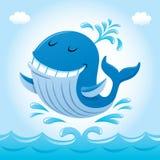 Baleine de sourire en air Photos libres de droits