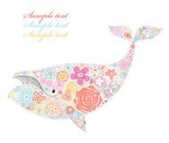 Baleine des fleurs Photos stock