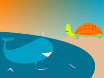Baleine et tortue Illustration de Vecteur