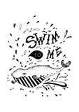 Baleine grunge Image libre de droits
