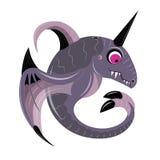 Baleine violette avec un klaxon Image libre de droits