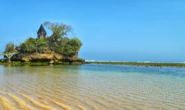Balekambang海滩寺庙 库存照片