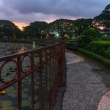 Balekambang Beach on Sunrise Stock Images