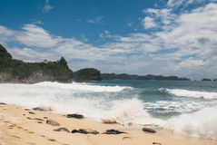 Balekambang strand royaltyfria foton