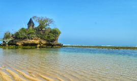 Balekambang-Strandtempel Stockfoto