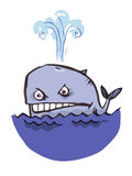 Balena aggressiva Fotografia Stock