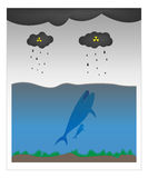 Balena & ecologia Immagini Stock