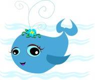 Balena blu sveglia del bambino Fotografia Stock