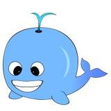 Balena blu sveglia del fumetto Fotografia Stock