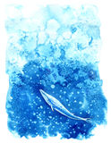 Balena ed acqua di Big Blue Fotografie Stock Libere da Diritti