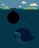 Balena ed olio Fotografie Stock Libere da Diritti