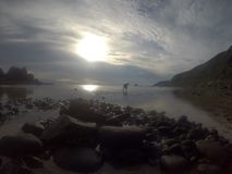 Baler, Aurora, Philippines. Along the reef of Baler Auroa, Philippines stock photos