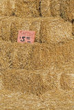 Baler av Straw For Sale Arkivfoto