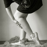 balerin nogi Zdjęcie Stock