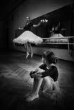 Balerina и девушка Стоковое Изображение
