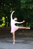 Balerina outdoors Zdjęcia Royalty Free