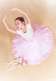 Balerina przy dancingową szkołą Obraz Stock