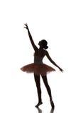 Balerina taniec na białym tle Fotografia Royalty Free