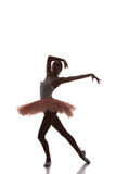 Balerina taniec na białym tle Obraz Stock