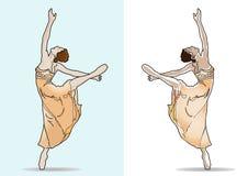 Balerina van het ballet dancer_ Stock Fotografie