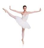 Balerina w spódniczki baletnicy spódnicie odizolowywającej przy bielem obrazy stock