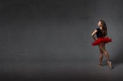 Balerina w tylnym bocznym widoku Obraz Stock