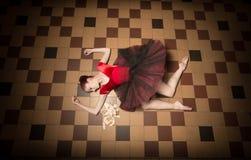 Balerina wykonawca w mieście obrazy stock