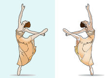balerinabalettdansör Arkivbild