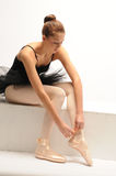baleriny czerń siedział spódniczek baletnic potomstwa Obrazy Royalty Free