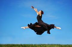 baleriny jumping Zdjęcia Stock