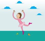 baleriny tana woda ilustracji