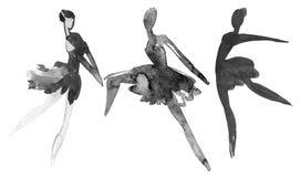 baleriny trzy royalty ilustracja