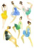 baleriny ustawiają ilustracja wektor