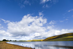 Balerno water reservoir Stock Photo